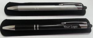 Stlus 2 ring STYLUS metal aluminium Jotta Pens Silver & Black with velvet pouch