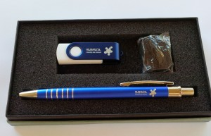 Swivel Usb and Jotta pen gift set Blue
