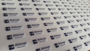 full colour dome decals - Bidvest Vericon logo